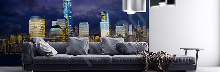 Fototapeta panorama Nowego Jorku nocą