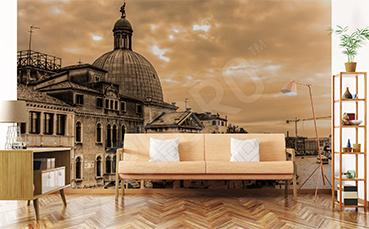 Fototapeta panorama Wenecji vintage