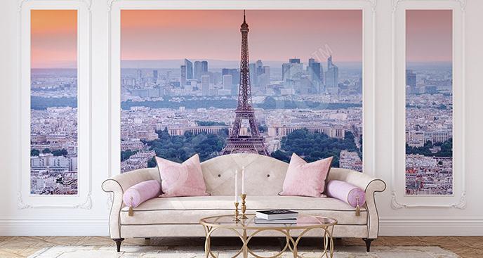Fototapeta panorama z Wieżą Eiffla