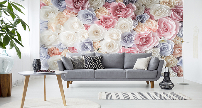 Fototapeta papierowe róże