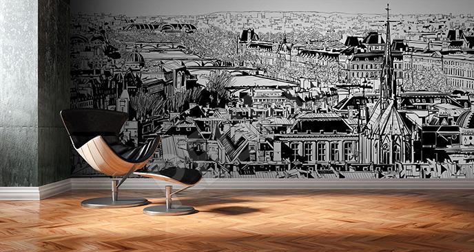 Fototapeta Paryż czarno-biały