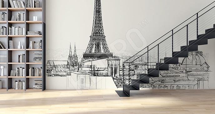 Fototapeta Paryż z Wieżą Eiffla