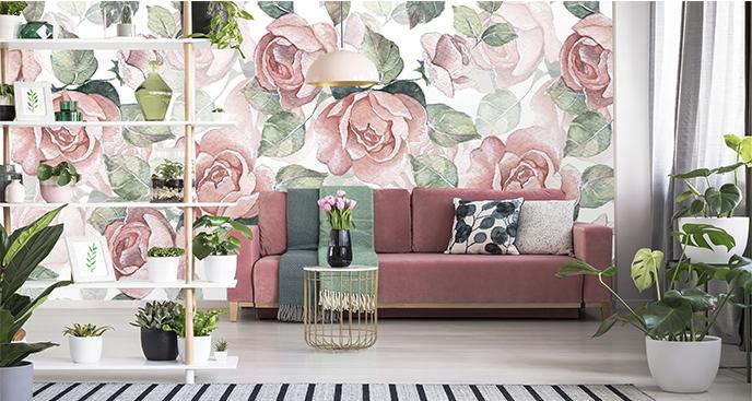 Fototapeta pastelowe kwiaty