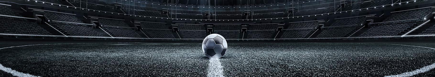 Fototapeta piłka na murawie