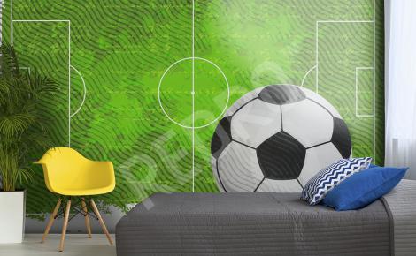 Fototapeta piłka nożna boisko
