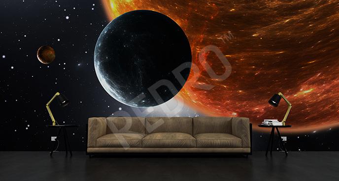 Fototapeta planeta i Słońce