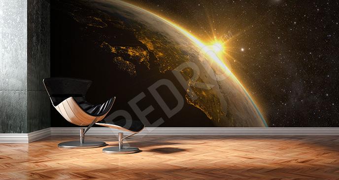 Fototapeta planeta Ziemia 3D