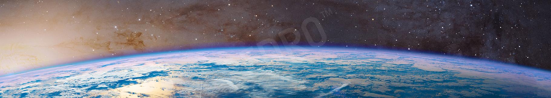 Fototapeta planeta Ziemia widziana z kosmosu