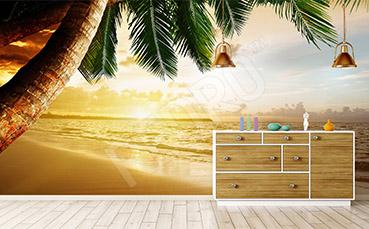 Fototapeta plaża z palmą
