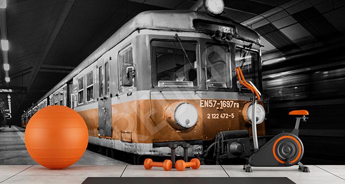 Fototapeta pociąg 3d