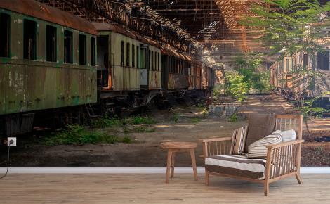 Fototapeta pociągi na stacji kolejowej