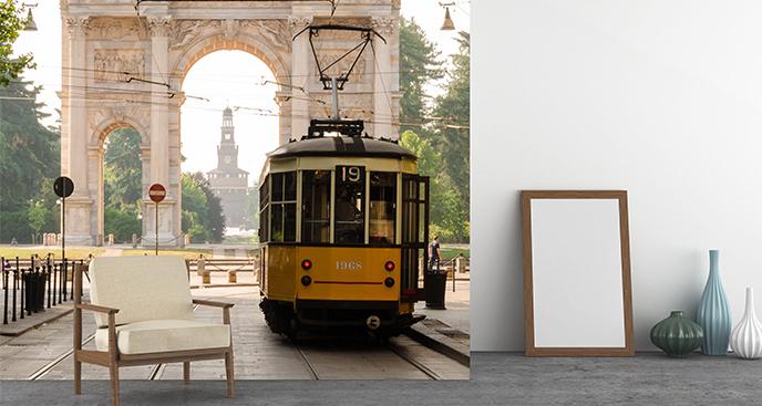 Fototapeta podróż tramwajem