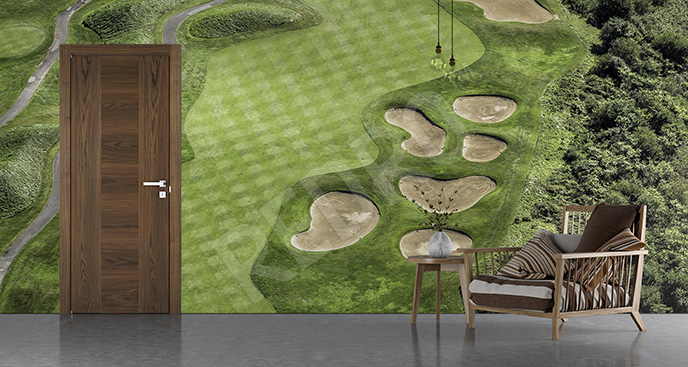 Fototapeta pole golfowe z góry