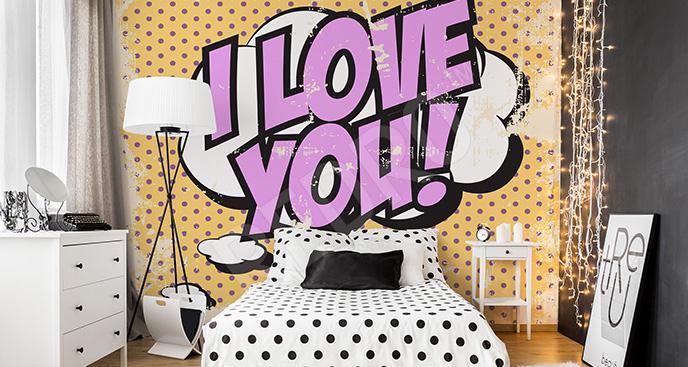 Fototapeta pop art do sypialni