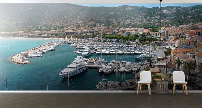 Fototapeta port na Korsyce