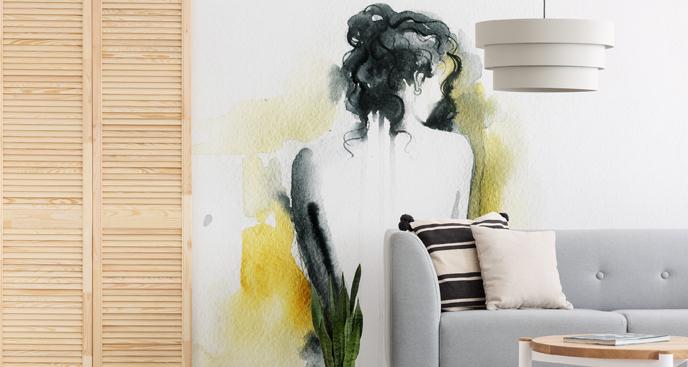 Fototapeta kobieta w białej sukni