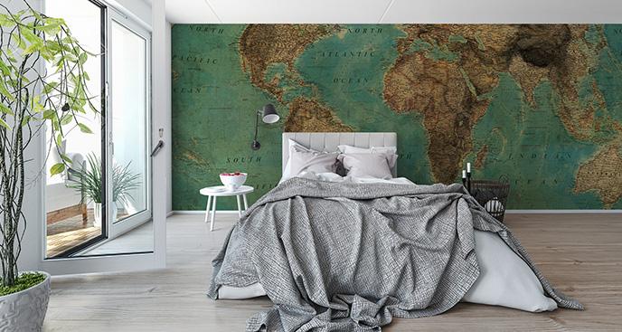 Fototapeta postarzana mapa