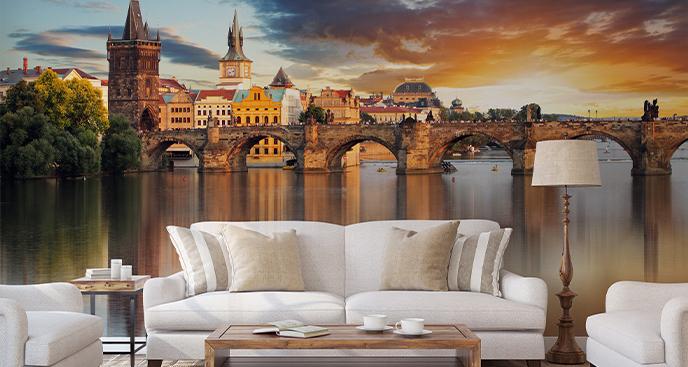 Fototapeta Praga o zachodzie