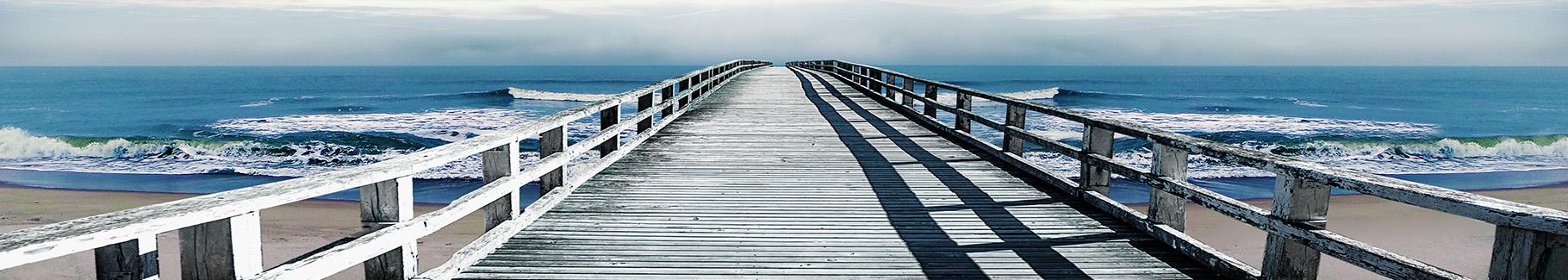 Fototapeta przestrzenna – most i wybrzeże