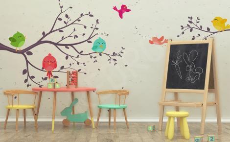 Fototapeta ptaki do pokoju dziecięcego
