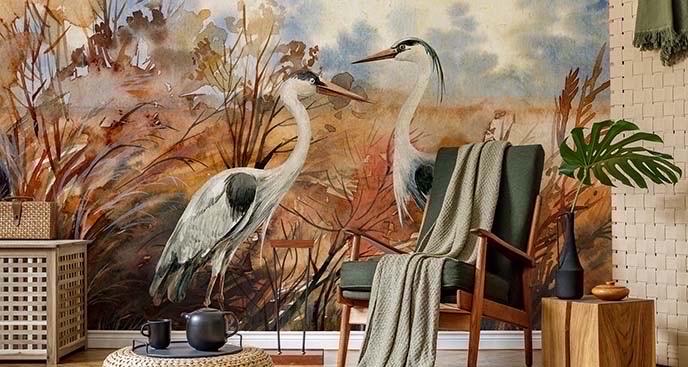 Fototapeta ptaki w stylu chinoiserie