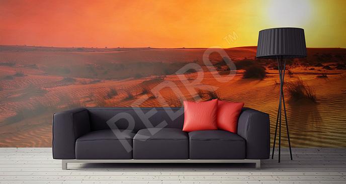 Fototapeta pustynia o zachodzie słońca