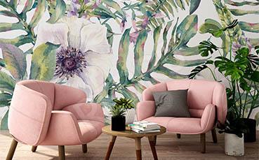 Fototapeta rajskie kwiaty do salonu