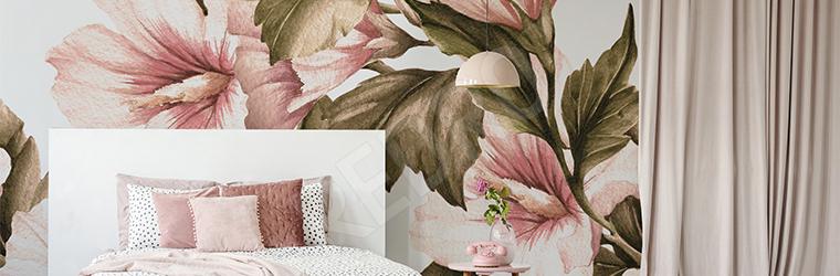 Fototapeta romantyczny wzór kwiatowy
