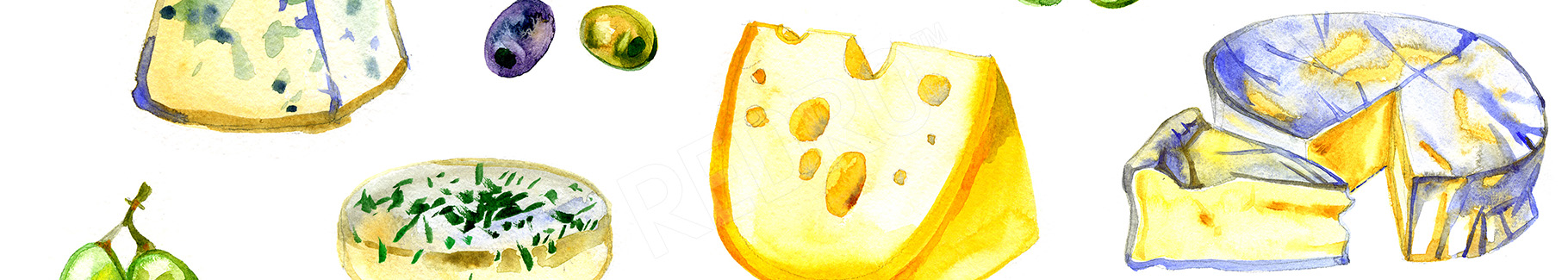 Fototapeta różne rodzaje sera