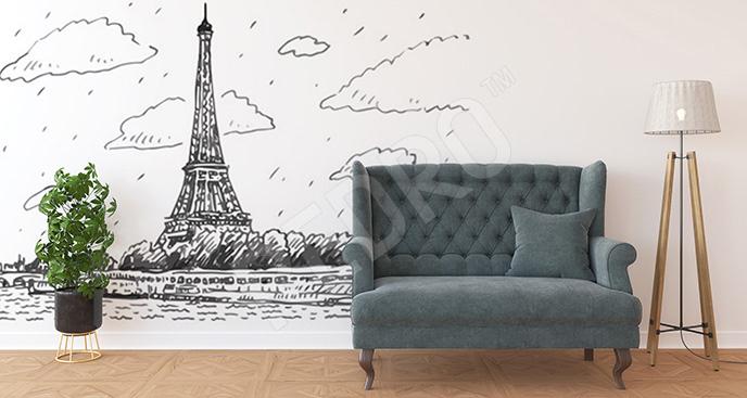 Fototapeta rysunkowa Wieża Eiffla