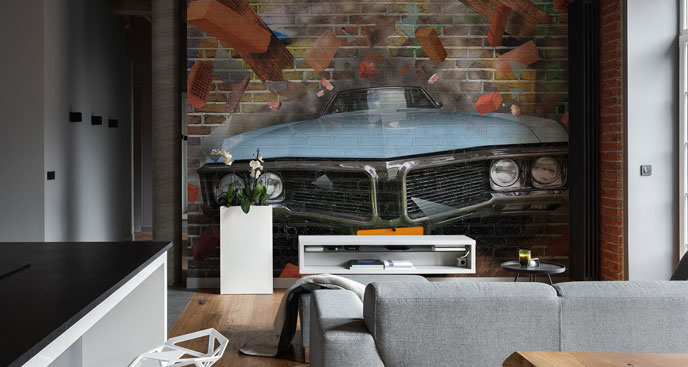 Fototapeta samochód w stylu graffiti