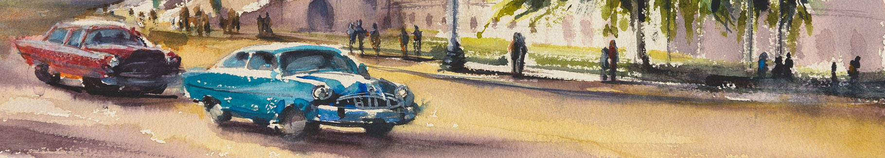 Fototapeta samochody na Kubie