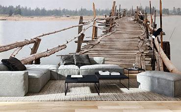 Fototapeta ścienna drewniany most
