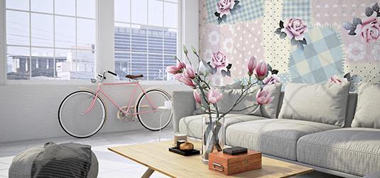 Tapety shabby chic - mieszkanie w starym stylu