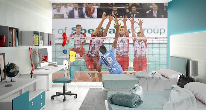 Fototapeta siatkówka: Liga Mistrzów