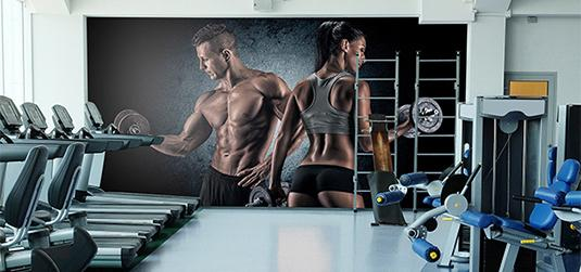 Motywujące fototapety i plakaty do klubu fitness