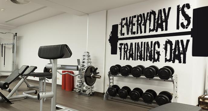 Fototapeta siłownia z napisem