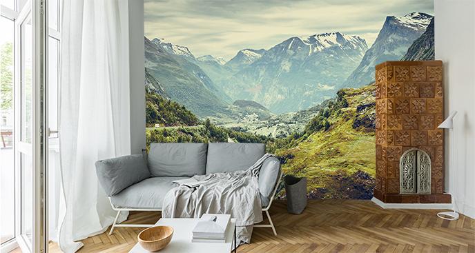 Fototapeta skandynawskie widoki gór
