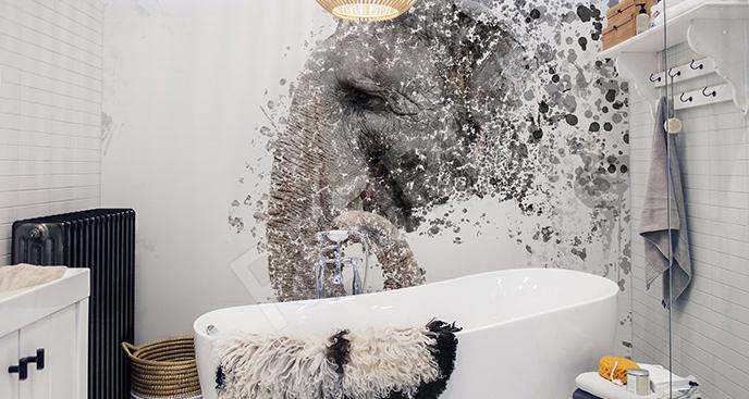 Fototapeta słoń do łazienki