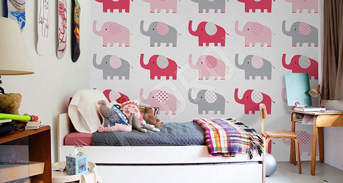 Fototapeta słonie dla dziewczynki
