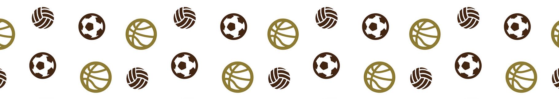 Fototapeta sportowa w piłki
