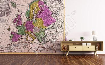 Fototapeta stara mapa Europy