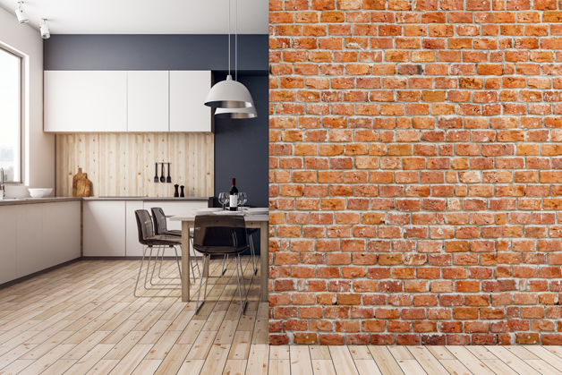 Fototapeta - Stary ceglany mur