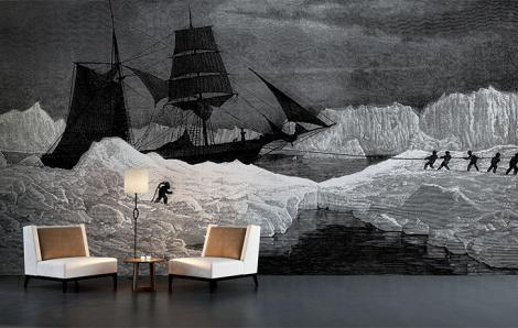 Fototapeta statek na Biegunie Północnym
