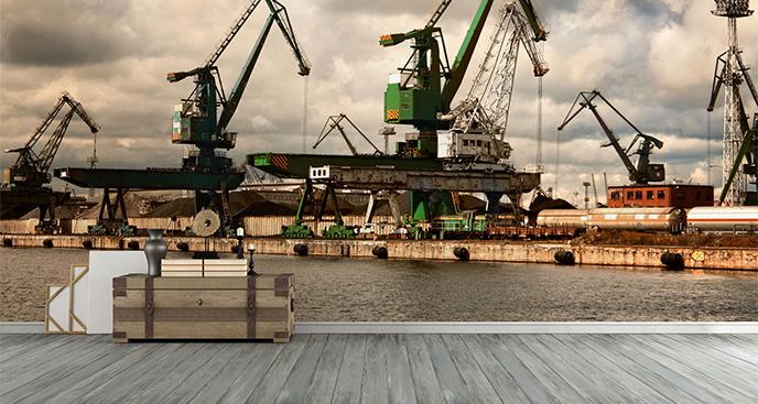 Fototapeta statki w stoczni