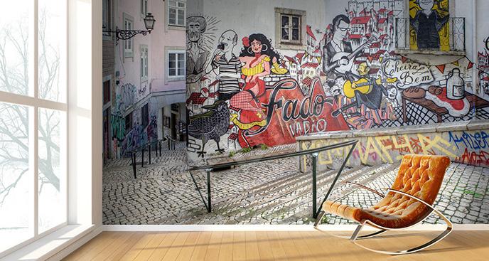 Fototapeta street art w Lizbonie