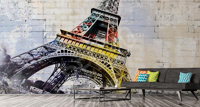 Fototapeta street art Wieża Eiffla
