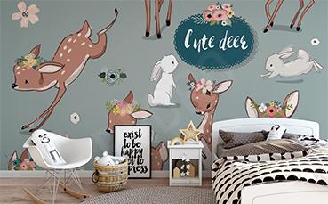 Fototapeta do pokoju dziecięcego żyrafa