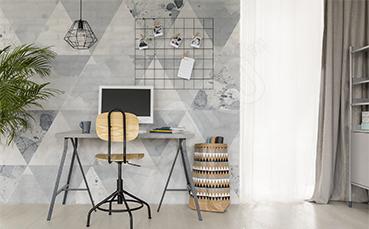 Fototapeta szare trójkąty do biura