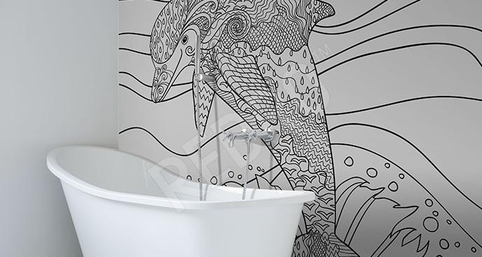 Fototapeta szkic delfina